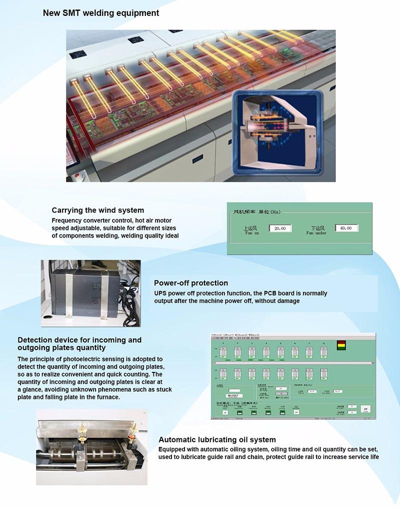 8 Heating Zones Reflow Oven